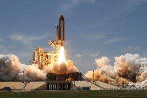 Foto del lancio di uno Spache Shuttle